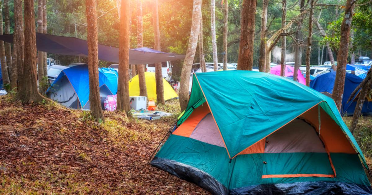 foto de várias barracas, representando como montar um camping