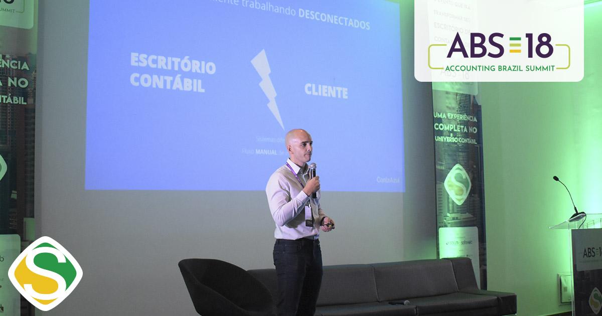 foto de vinicius roveda, palestrante e ceo do contaazul, representando o sucesso do abs18