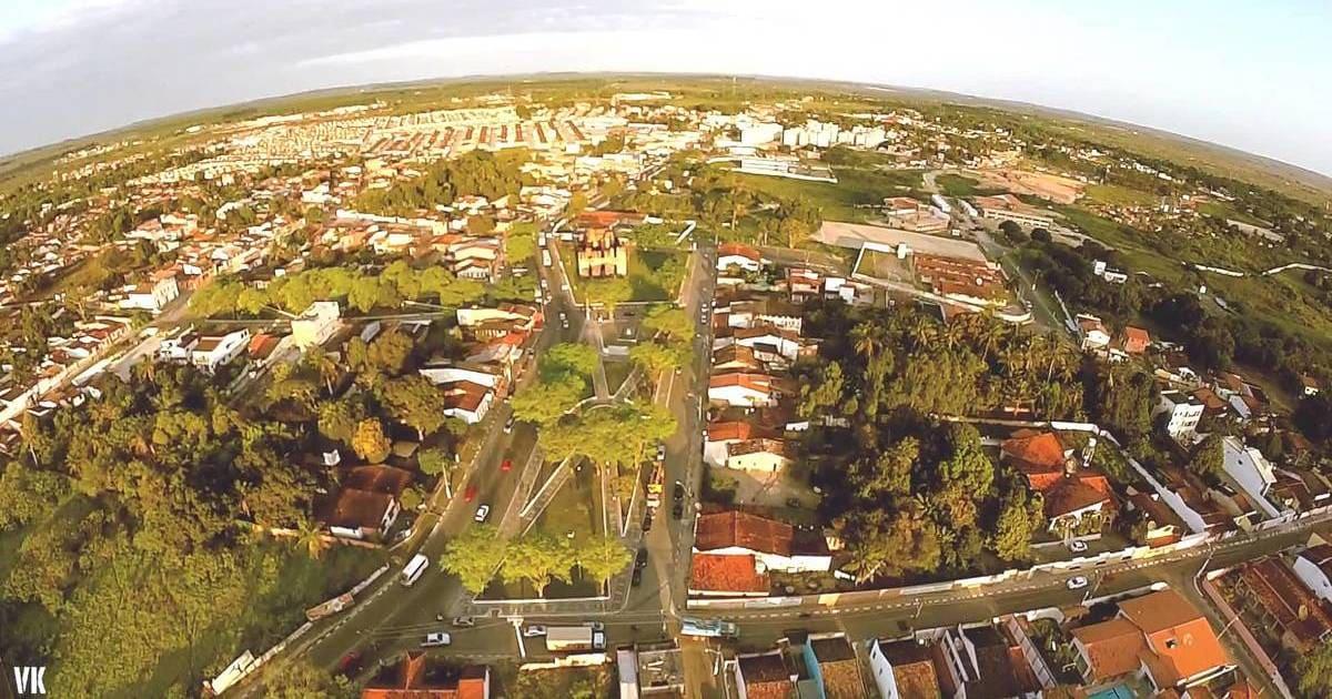 foto aérea da cidade, representando a contabilidade em Alagoinhas
