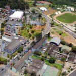 foto aérea da cidade, representando a contabilidade em Franco da Rocha