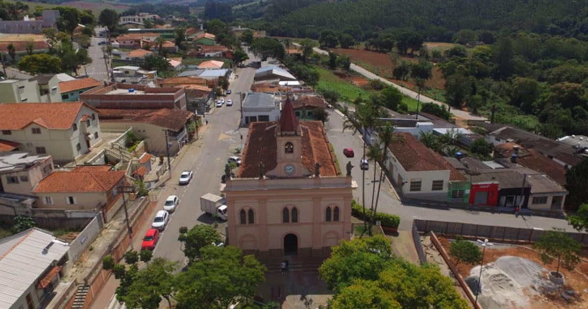 foto aérea da cidade, representando a contabilidade em Jarinu
