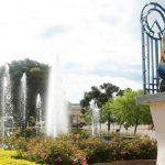 Foto de praça da cidade, representando a contabilidade em Pinhalzinho