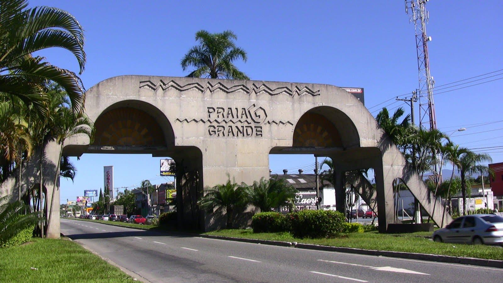 Imagem da entrada da cidade para quem deseja abrir empresa em Praia Grande