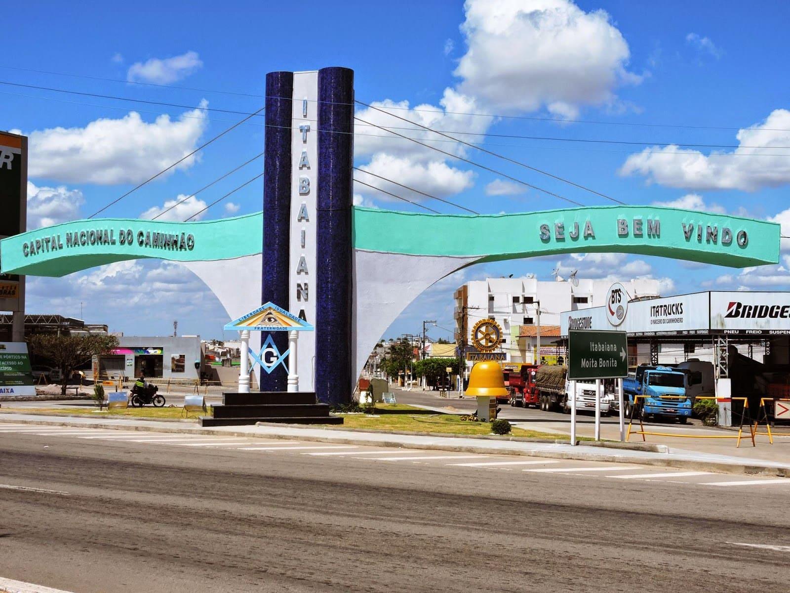 Imagem da entrada na cidade que possibilita várias oportunidades para quem quer abrir empresa em Itabaiana