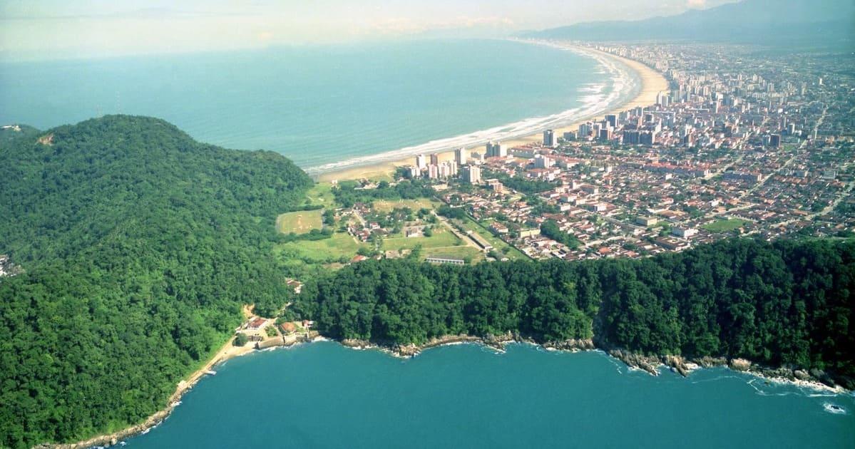 Vista aérea para os empreendedores que querem abrir empresa em Praia Grande