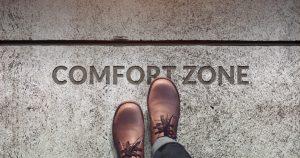 foto de um homem cruzando a linha, saiba como sair da zona de conforto