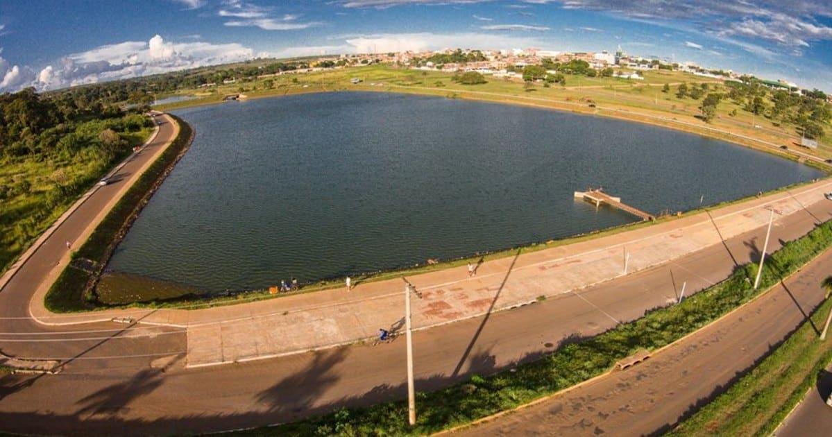 Imagem do lago que é referência na cidade para quem quer abrir empresa na Cidade Ocidental de Goiás