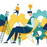 ilustração que representa a cultura de inovação em pequenas empresas