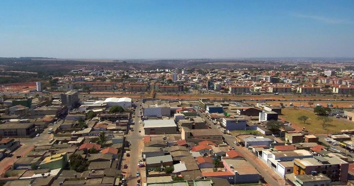 Imagem aérea da cidade que é uma boa opção para quem deseja abrir empresa em Valparaíso de Goiás