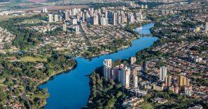Imagem aérea da cidade para quem deseja empreender e abrir empresa em Londrina