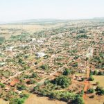 foto aérea da cidade, representando como abrir empresa em Caçu