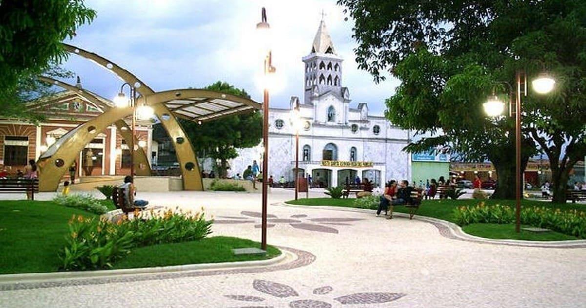 Foto de praça da cidade, representando a contabilidade em castanhal