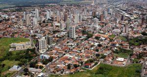 foto aérea da cidade, representando a contabilidade em Marília