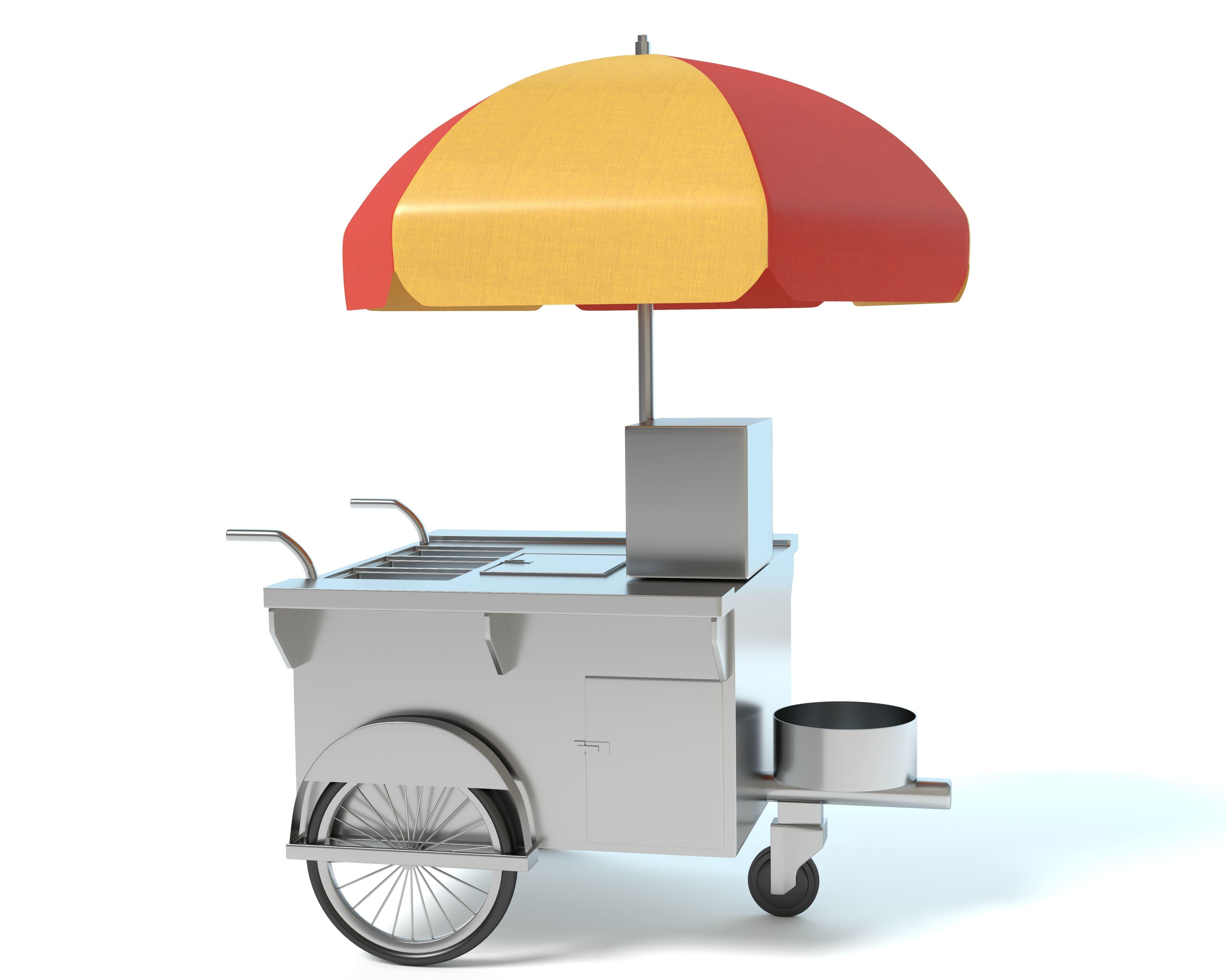 Imagem de um carrinho para inspirar quem deseja montar um carrinho de cachorro-quente