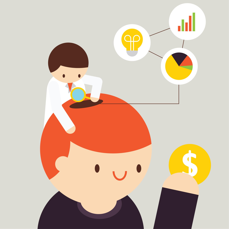 Imagem de um pesquisador mexendo dentro da cabeça do cliente para entender qual é o comportamento do consumidor da sua empresa