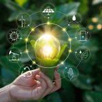 imagem com uma luz mostrando o surgimento da contabilidade ambiental
