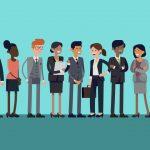 ilustração de pessoas representando o quiz perfil empreendedor