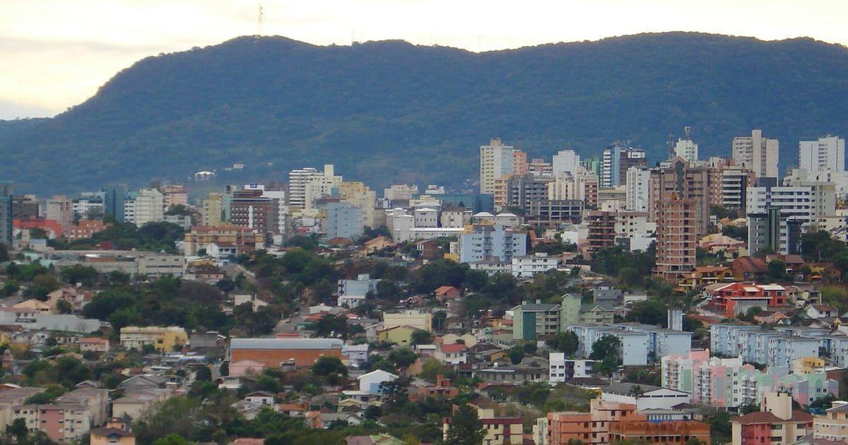 Foto da cidade, representando a contabilidade em santa maria