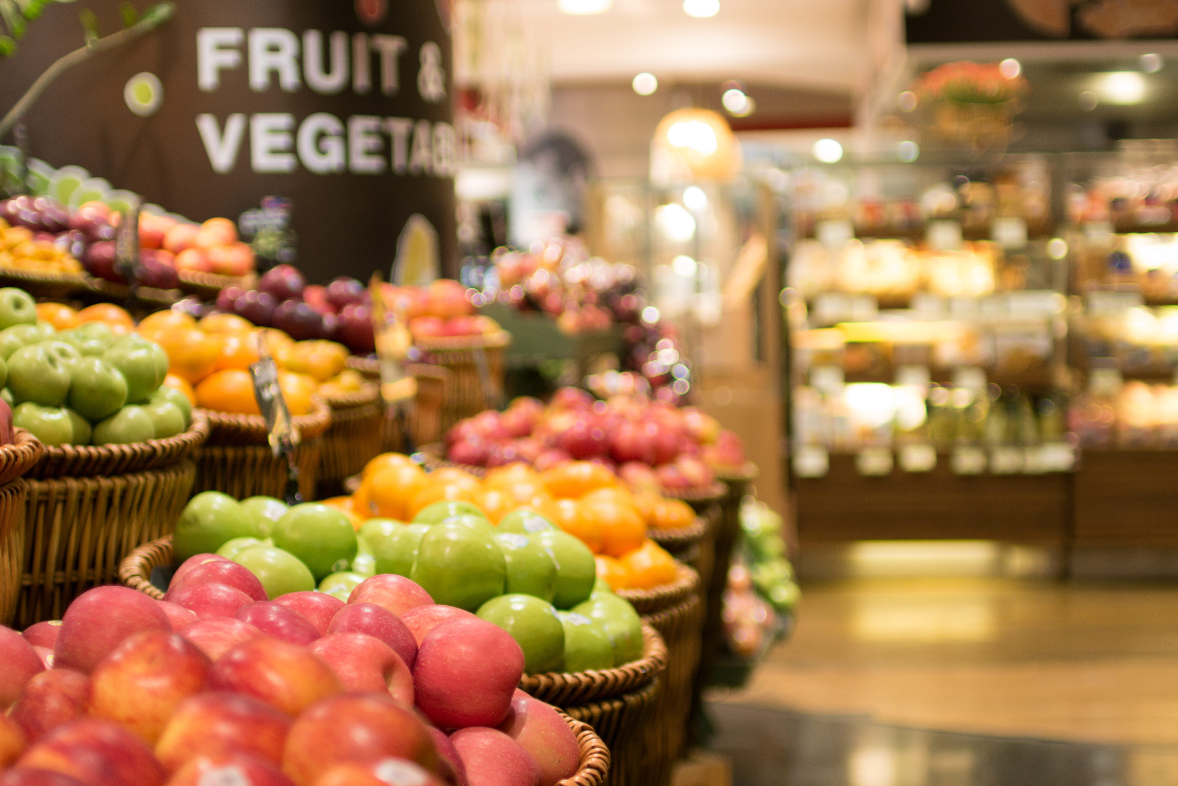 Imagem de algumas frutas para abrir um sacolão