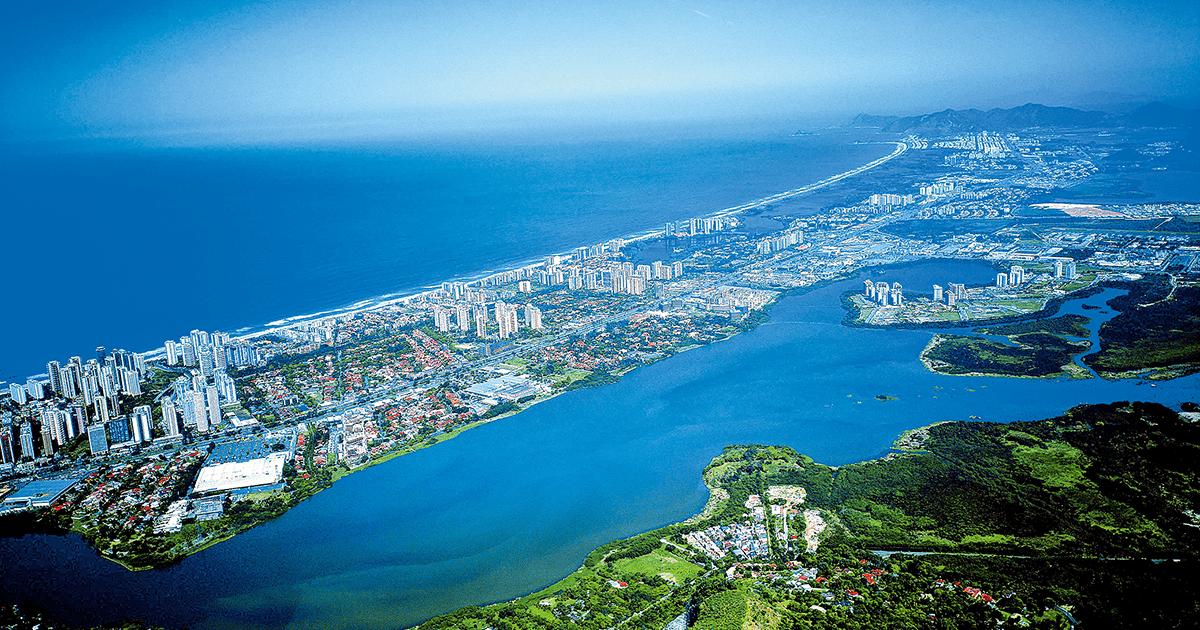 Barra da Tijuca no Rio de Janeiro, representando a contabilidade na tijuca