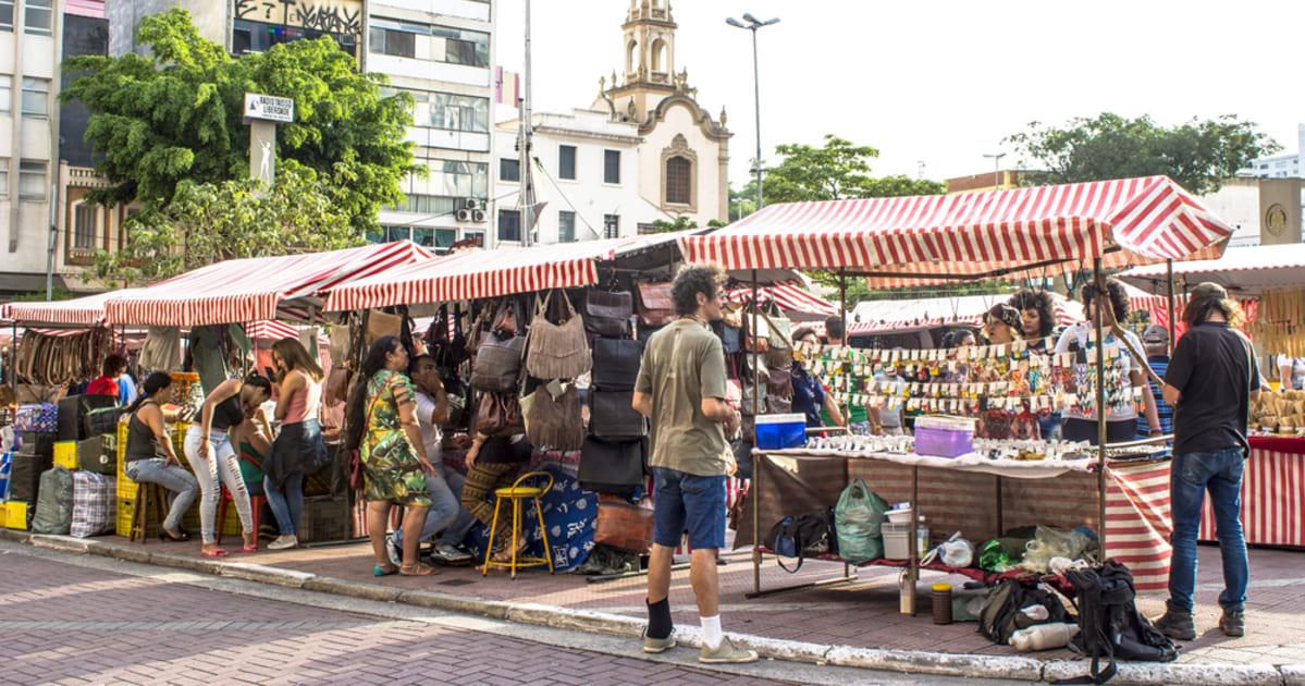 foto de feirinha tradicional do bairro, representando a contabilidade na liberdade