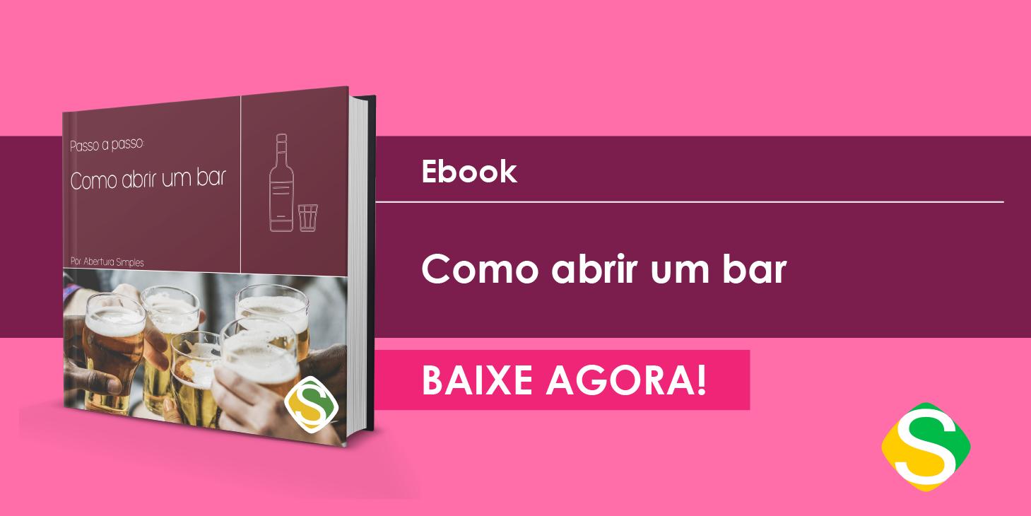 Imagem de um botão para remeter ao e-book sobre guia completo para abrir um bar
