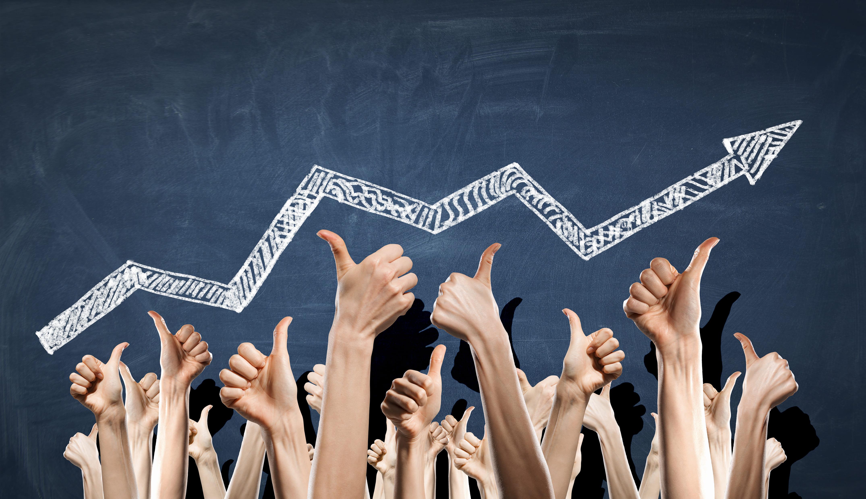 Imagem de uma seta de crescimento para remeter ao o que é Inside Sales