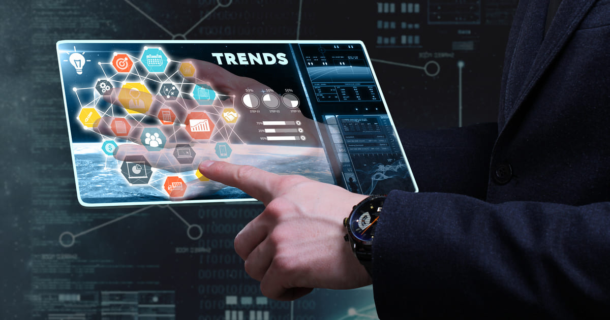 Imagem de um computador para remeter a como identificar tendências de mercado