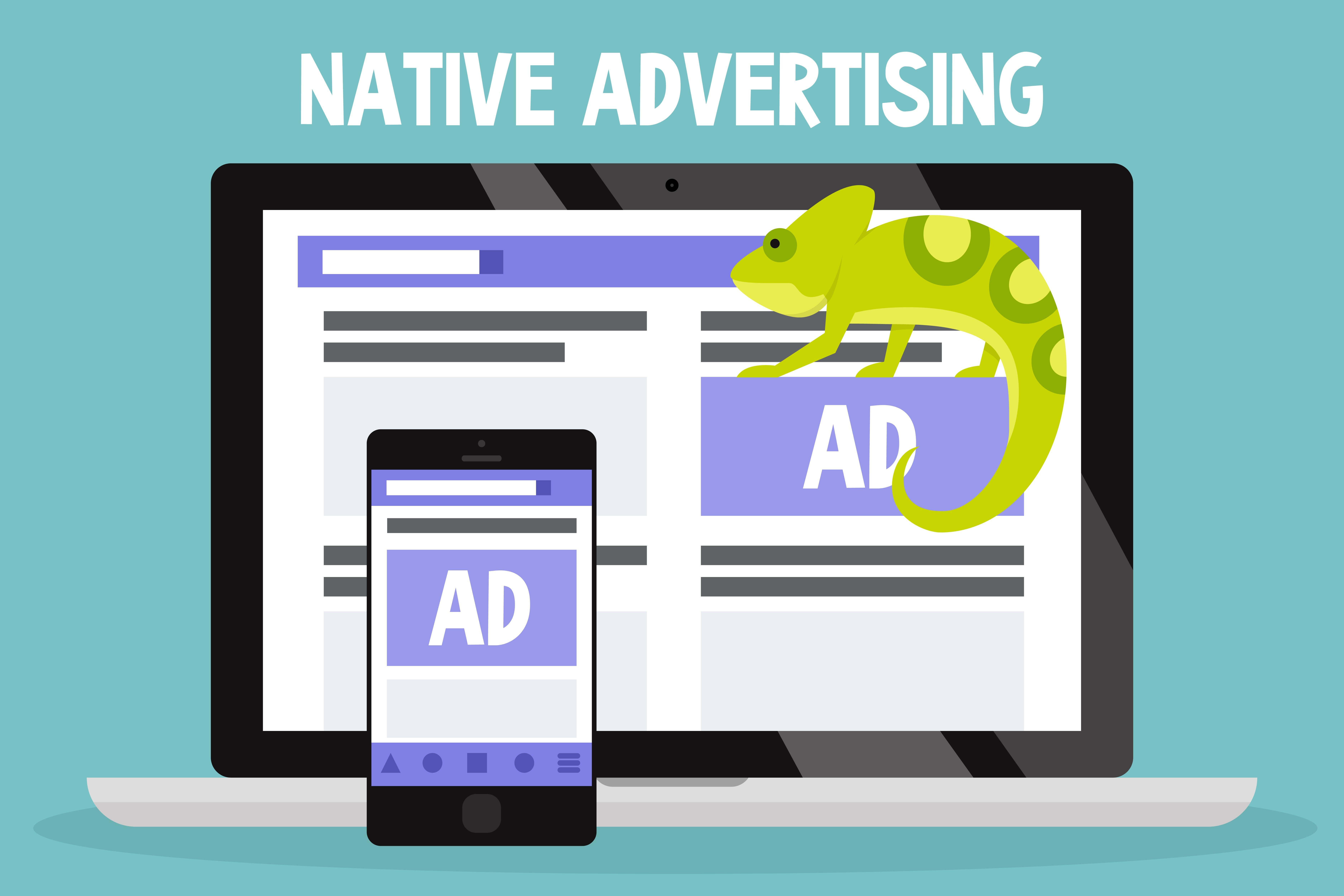 Imagem de um camaleão para remeter ao Native Ads abordado no texto