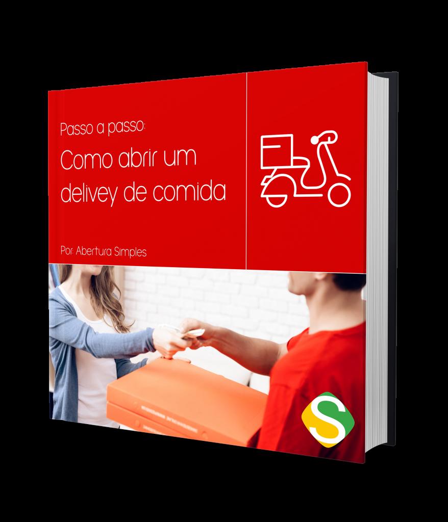 """imagem da capa do ebook de """"saiba como abrir um delivery de comida"""""""