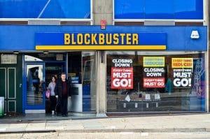 foto de um blockbuster, representando as empresas que faliram por falta de inovação
