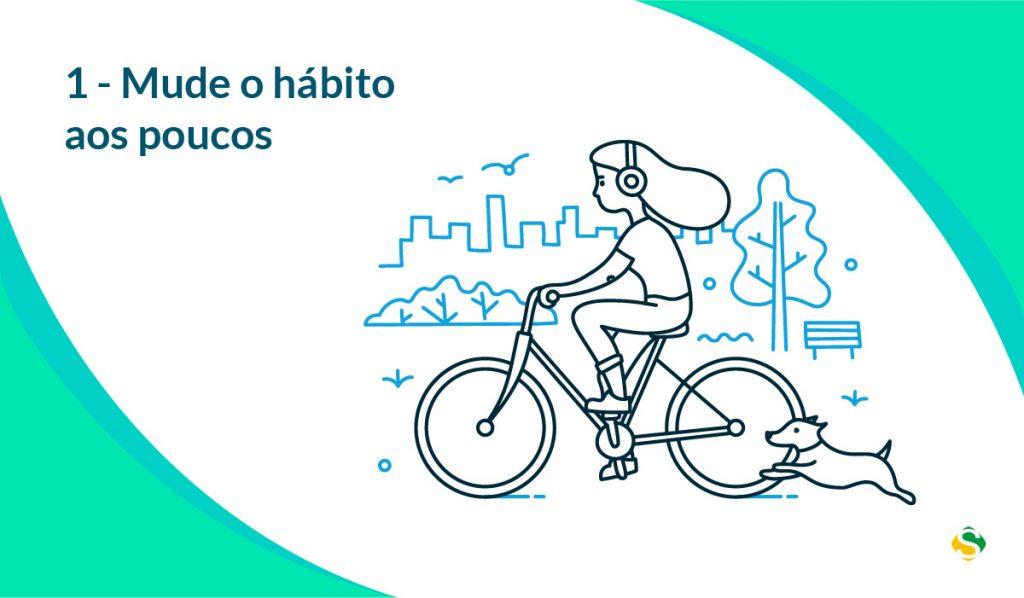 ilustração para mudar hábitos aos poucos